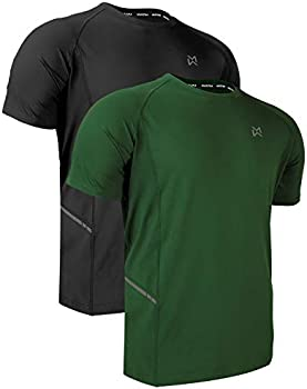 2-Pack Muezna Dry-Fit Running Workout Short Sleeve Men's T-Shirt
