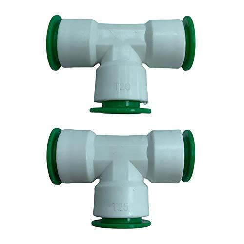 Vottle Raccordi per Tubi in PPR Tramite Raccordo rapido per Tubo dell'Acqua a T con Filettatura Femmina