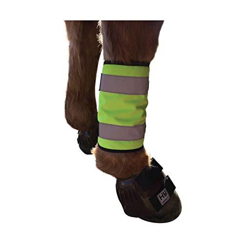 HyViz Reflektor Pferde Beinbänder (Cob/Pferd) (Gelb)