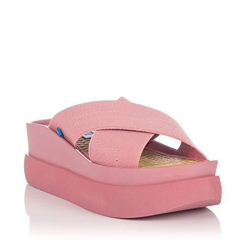 Sandalias de Plataforma Mustang Kaiteki Rosas