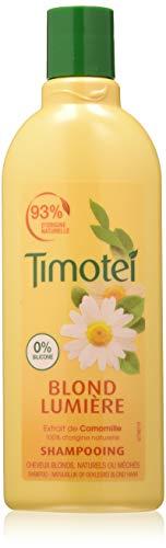 Timotei - Champú Blond Luce con extracto de manzanilla para cabellos rubios, 300 ml, Pack de 4 unidades