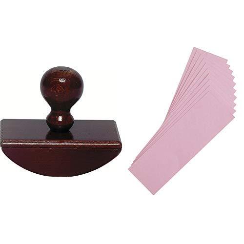 J.Herbin 25000T Stempel für Löschpapier aus Holz & J hebrin Refill Löschpapier für Hand Schreibunterlage (10Stück)