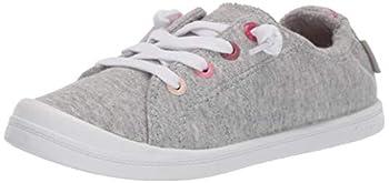Roxy Girl s Bayshore Slip On Sneaker Shoe Grey Heather New 5 Medium Youth US Big Kid