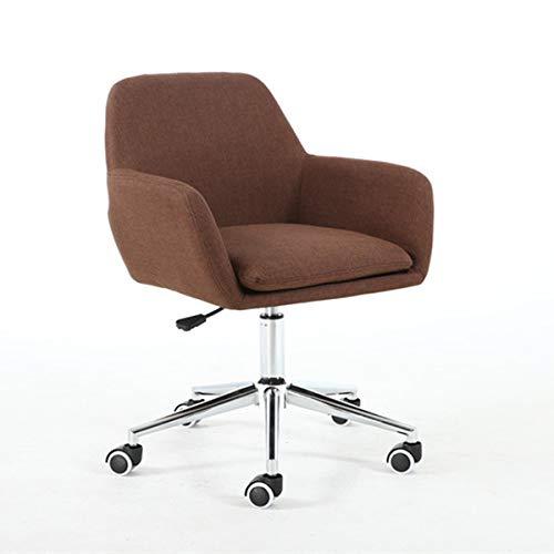 HEEGNPD Home bureaustoel gestoffeerd half achter-Ergonomische bureaustoel met armleuningen voor vergaderruimte of computerstoel 2