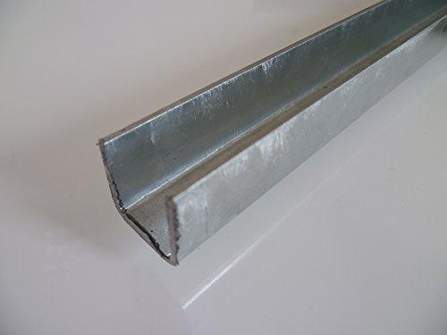 B&T Metall Stahl U-Profil VERZINKT 30 x30 x 1,5 mm gleichschenklig in Längen à 2000 mm +/- 5 mm S235 (1.0038 ST37) Bordwandprofil Einfassprofil verzinkt
