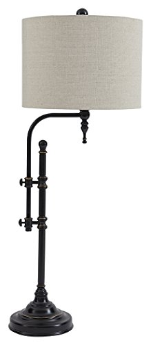 Signature Design by Ashley - Anemoon Table Lamp - Industrial Vintage Style - Black