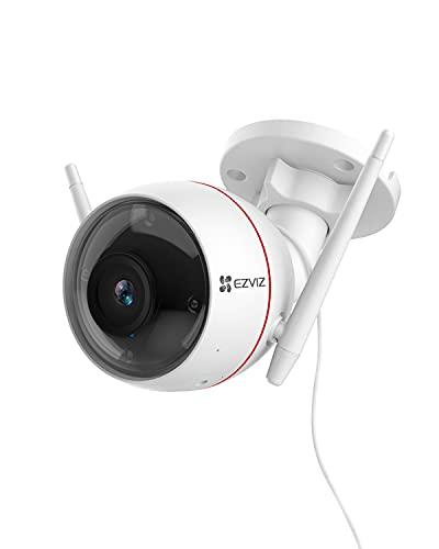 EZVIZ Outdoor Security Camera, Surveillance IP66 Weatherproof, 100ft Night Vision, Strobe Light &...