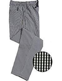 Best Textile Unisex Contemporary Black & White Check Baggy Chef Pants (M)
