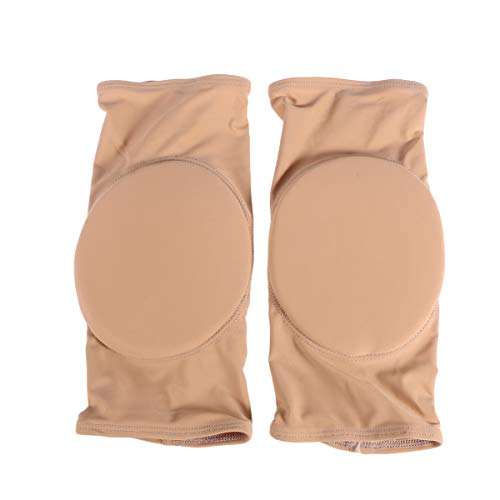 Healifty Elastic Protective Knieschützer Atmungsaktive Ärmel Brace Sport Kniebandage Thicked Foam Pad für Kinder Erwachsene Skating Radfahren Skifahren Outdoor-Sportarten (Hautfarbe Größe L)
