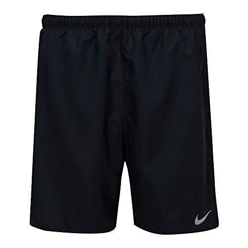 NIKE M NK DF Challenger Short 7BF Pantalones Cortos, Black/(Reflective Silv), XL para Hombre