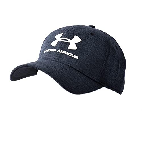 Under Armour® Basecap Twist Stretch Fit, HeatGear® / schwarz meliert, Logo weiß, Größe: L/XL