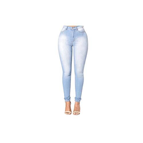 NO BRAND jeansbroek met elastische band voor dames, nauwsluitend, van jeans, streetwear