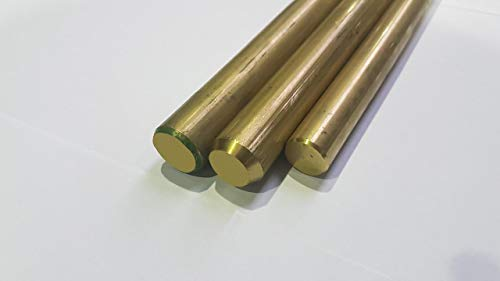 Messing Rundstange Rundmaterial Rundstab - MS 58 (CuZn39Pb3) - Ø 25 mm L= 500-2000mm (500 mm)
