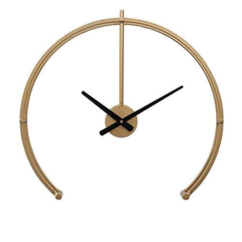 HEKRW Sala Dormitorio Principal con Pilas de la Pared del Reloj Simple, Elegante Personalidad Hierro Silencio Reloj (Size : 49cm)