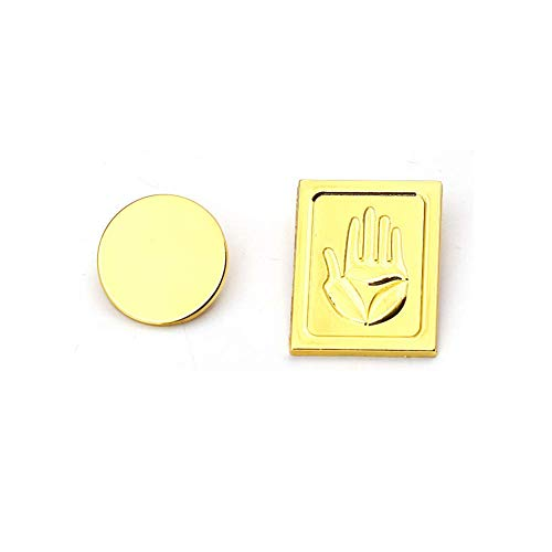 Anime Cos Brooch Pins Metal Jewelry Gift Kujo Jotaro Hats Buckle Badge Cosplay Prop