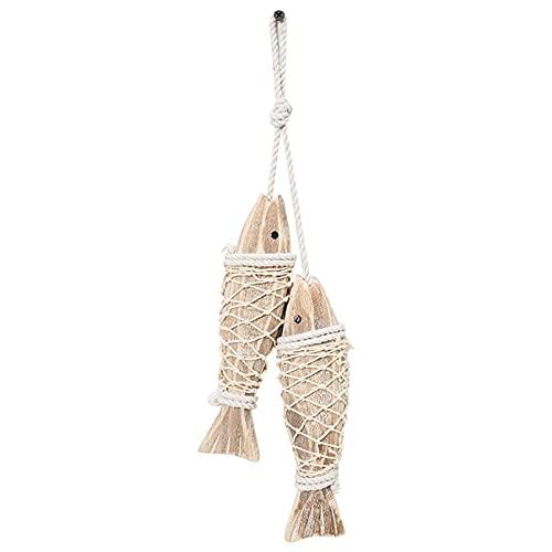 Hölzerne Fische Wandkunst, Holzfisch, handgeschnitzte Fische Hängende Dekor, dekorative Fischverzierung für mediterranes nautisches Thema, Küstenthema, Lake Haus Dekor