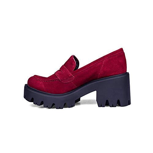 NO ES LO Mismo - Botas y Botines de Piel | Plataformas | Tacón Cuadrado | Invierno 2020 | Talla del 35 Al 41 | Calzado Elegante de Máxima Calidad