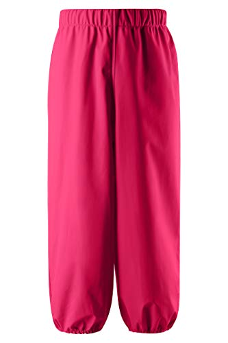 Reima Kinder Regenhose Oja Candy Pink – Regenhose für Kinder mit verstellbarem Bund – wasserdichte Matschhose mit reflektierenden Details – Größe 146