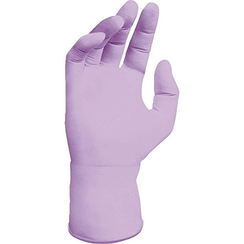 Kimberly Clark Safety 52819 Nitrile Exam Gloves, Lavender, Size Large, 250 Count