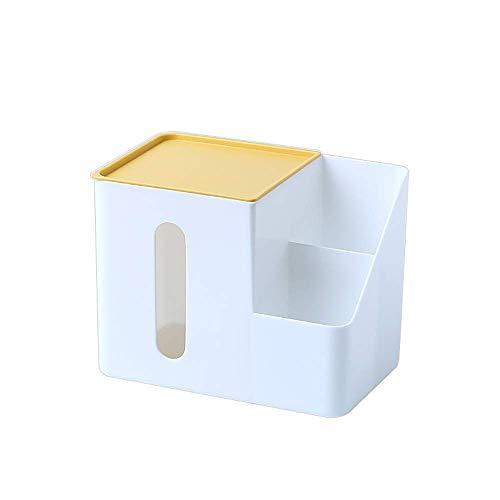 COLiJOL Soporte de Papel Caja de Pañuelos Caja de Pañuelos de Plástico Dispensador de Toallas de Mano de Papel Soporte para Lápices para Encimeras Uso en el Hogar Y la Oficina