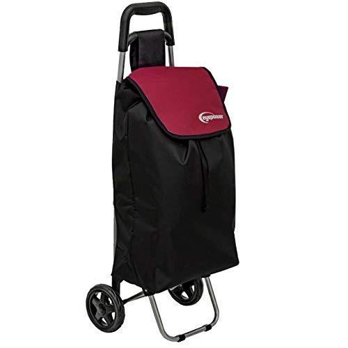 EYEPOWER 48L Einkaufstrolley Faltbarer Einkaufsroller 94x37x30 cm Trolley Rot