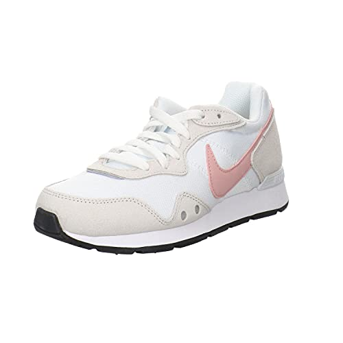 Nike Venture Runner, Zapatillas para Correr Mujer, White Pink Glaze Platinum Tint Black, 38 EU