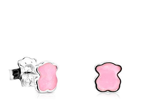 Pendientes TOUS Color de Plata con Cuarcita rosa (815433610)