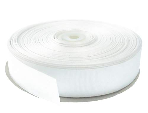White 1 Inch Grosgrain Ribbon