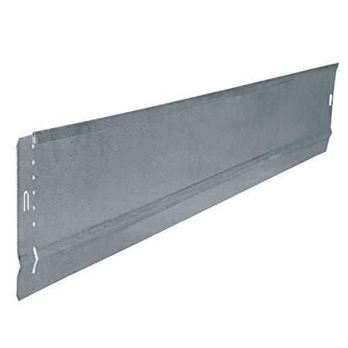 bellissa Rasenkante Basic im 2er Set - 99679 - Stahlblech feuerverzinkt, silberfarbig - aus Metall - 100 x 10 cm, Nutzlänge 0,97 m - Mit patentierter Verbindungstechnik