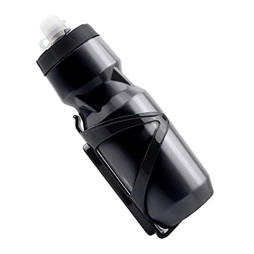 1 Pezzo Bottiglia Per Bicicletta Portaborraccia, con Bottiglia d'acqua per Spremere lo Sport, Senza BPA, per Bicicletta, Bici da Corsa, Mountain Bike, Biciclette Elettriche (Verde)