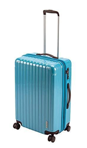 キャプテンスタッグ(CAPTAIN STAG) スーツケース キャリーケース キャリーバッグ 超軽量 TSAロック ダブルホイール 360度回転 静音 ダブルファスナータイプ Mサイズ ファインブルー パルティール UV-71