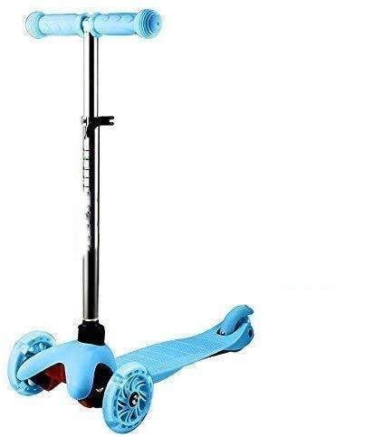 Oppikle 3 Räder Kinder Roller Scooter - Höhenverstellbarer Kinderroller Mit LED Leuchträdern Rollen Und Verstellbare Lenker Für Kleinkinder - Mädchen Oder Jungen Ab 3 Jahren (Blau)