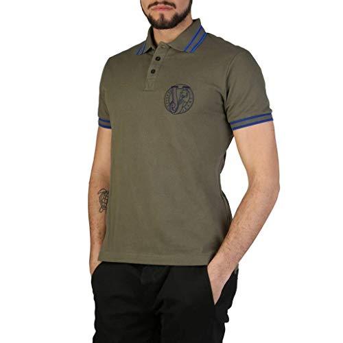 Versace Jeans Herren T-Shirt Polo Kurzarm Kurzarmshirt Polokragen Grün EU 48 (UK 38) B3GSB7P1