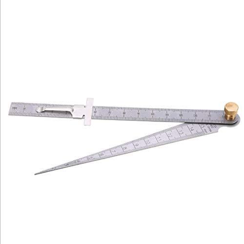 Discover Bargain Shears Aperture Measurement Stainless Steel Taper Ruler 1-15mm Ruler LPLHJD