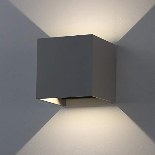 K-Bright 12W LED Außenwandlampen, Auf und ab Einstellbarer Lichtstrahl IP65 4000K-4500K, dekorative Innenwandlampen,1 Stück