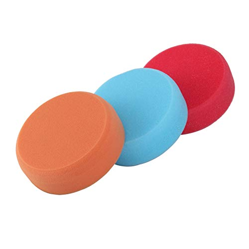 YORKING 3 Pcs Polishing Pad Sponge Polishing Polishing Sponge Heads 150mm Car Buffing Soft Mop Pads M14 Thread