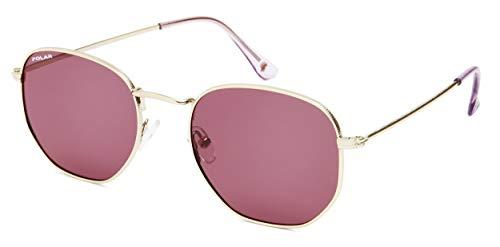 Chicago - Gafas de sol unisex polarizadas doradas con lente rosa (pchi02/P)