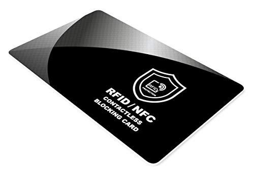 RFID NFC Blocker Störsender Karte - Schutzkarte für Geldbörse, Cliphalter, Bankkarte, Kreditkarte, Ausweise, Reisepass, Credit Card Schutz von SmartProduct - 1 Stück