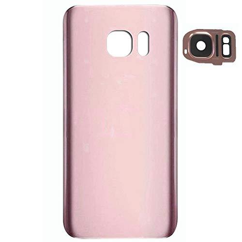 UU FIX Tapa de Batería para Samsung Galaxy S7 Edge SM-G935F (Rose Gold) de la Reemplazo Parte Trasera Battery Cover con Kit Reparación.