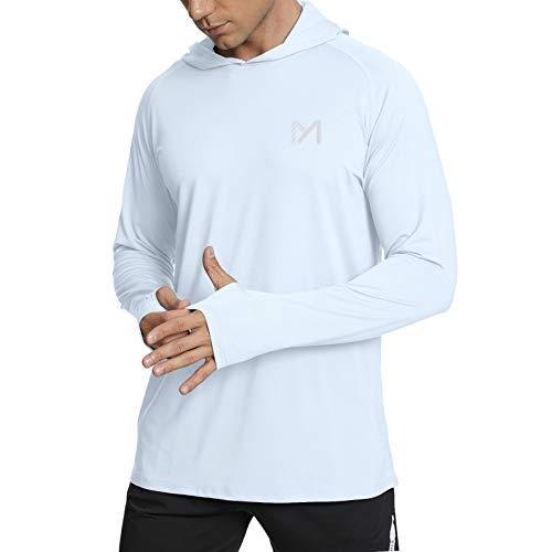 MEETYOO UV Shirt Herren, Rash Guard Langarm Funktionsshirt UV-Schutz Shirt Männer Sportshirt für Running Schwimmen Sport