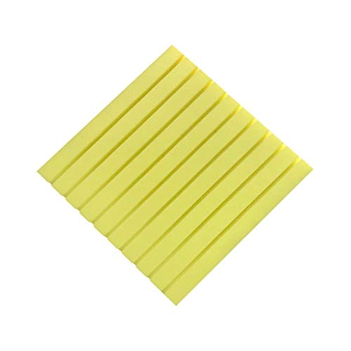 Z-XIYIN Streifen-Akustikplatten, Bürotagungsraum schallabsorbierende Baumwolle Schule Klassenzimmer Dekoration Acoustic Panels 10PCS (Color : Yellow)