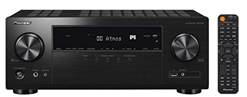 Pioneer VSX-934, Receptor AV 7.2 (160 W/canal, 4K UltraHD, Dolby Atmos, DTS:X, Wifi, Bluetooth, Hi-Res Audio, streaming, Apps de música, internet radio, Multiroom) negro