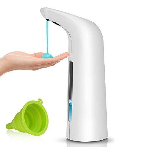 Shirylzee Dispenser di Sapone Automatico, 400ml Touchless Erogatore Sapone Liquido con Sensore di Infrarossi per Cucina Bagno e WC, Hotel, Ristorante