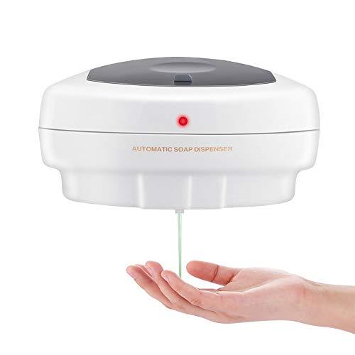 JYDHBDA 450ml Dispensador de jabón automático Activado por Movimiento por Infrarrojos de Montaje en Pared Bomba de loción de jabón de Cocina sin Contacto Funciona con Pilas para Cocina Baño Hospital