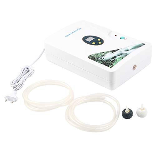 Generador de ozono portátil 600 mg / h, generador y purificador de ozono multiusos, aire, agua, aceite, ozonizador, máquina de ozono para limpiar frutas, verduras, carne, ropa, enchufe de la UE 220 V