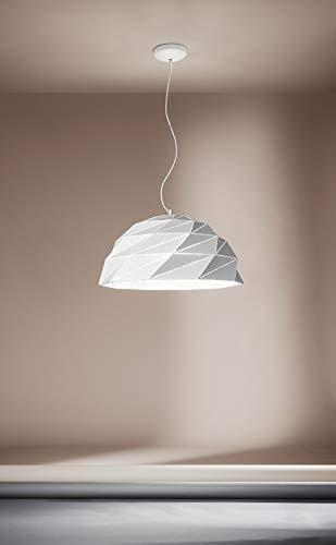 Lampadario da soffitto bianco modello 6624B Perenz Realizzato in metallo con paralume lavorato