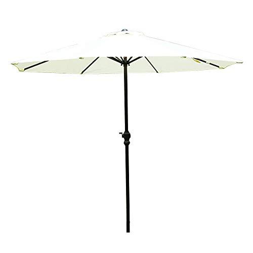 BAIYAN Ombrello, Ombrello da Giardino all'aperto |2,7 m | con la manovella/Rotonda/Protezione UV/Anti-Leggera Pioggia, Parasole Compatto per la Spiaggia/Gazebo/Balcone/terrazzo/tavolino da caff