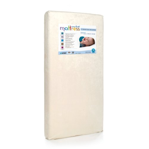 My First Mattress Crib Mattress, Breathable Memory Foam Crib Mattress with Removable Protective...
