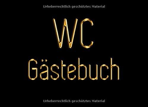 WC Gästebuch: Lass dich von deinen Freunden ihren Sinn für Humor zeigen!   Schwarz und Gold Toilette Gästebuch   Badezimmer Gästebuch