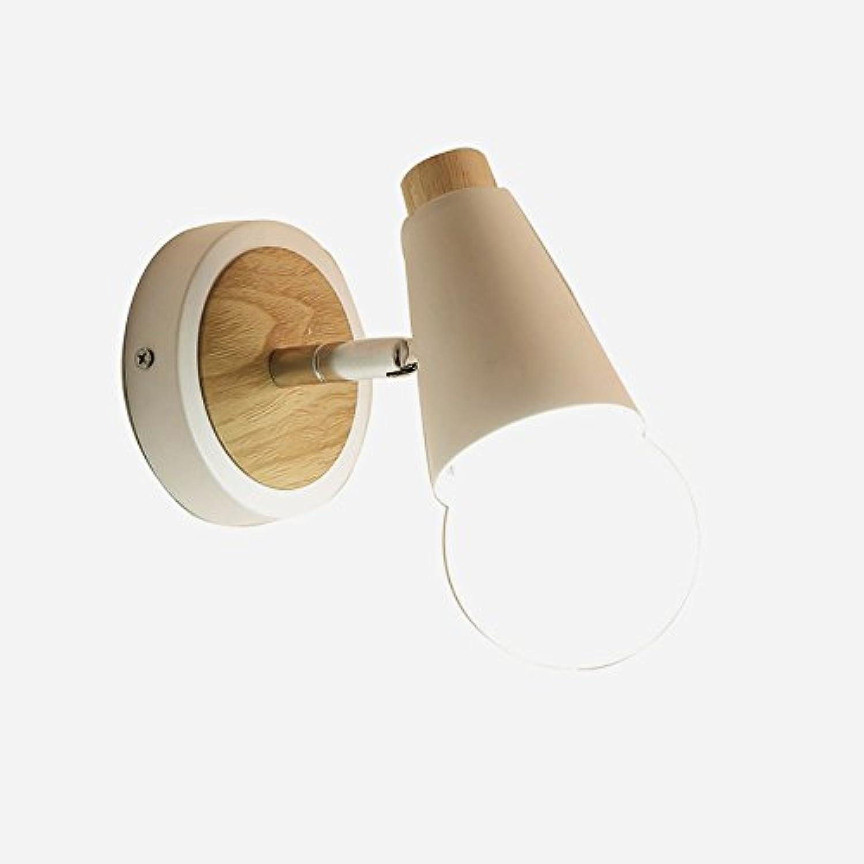 Wansheng Kreative Schlafzimmer Moderne Einfache Nachttischlampe Treppe Balkon Schmiedeeisen Wandleuchte Restaurant Hirschkopf Wandleuchte LED-Licht Wei
